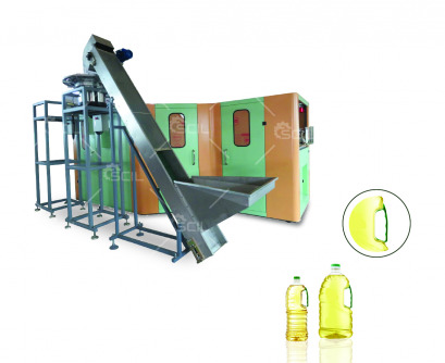 SCB-00BC Oil Bottle W-handle Fully Automatic Blowing Machine